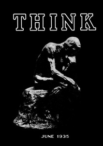 High resolution image of the front cover of the first issue of IBM's THINK Magazine in June 1935