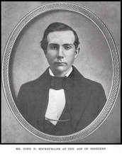 Picture of John D. Rockefeller Sr. at 18 years of age