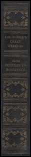 High quality image of spine of the book: The World's Greatest Speeches with Watson Sr.'s speech the
